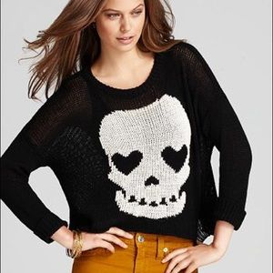 Vintage Havana Skull Heart Eyes Sweater